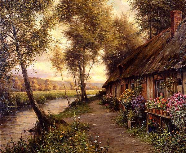 Louis Aston Knight  (1873 - 1948)  The Long Cottage