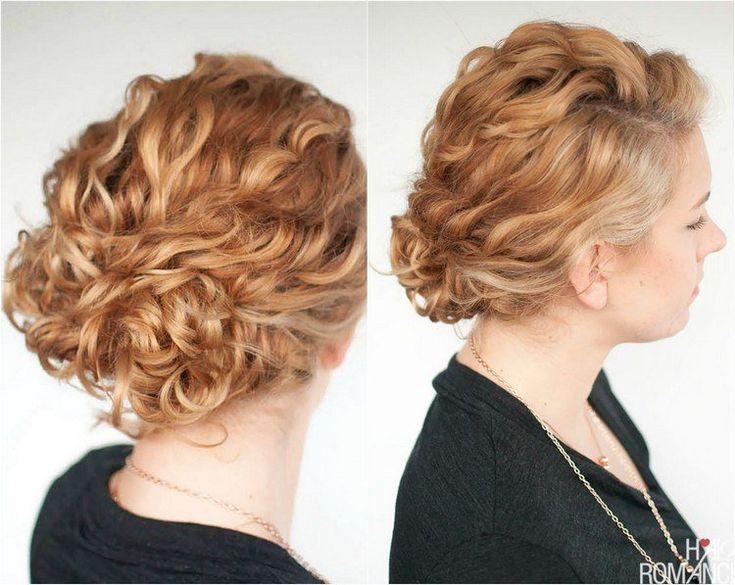 coiffure quotidienne pour cheveux bouclés naturellement - chignon en mèches bouclées