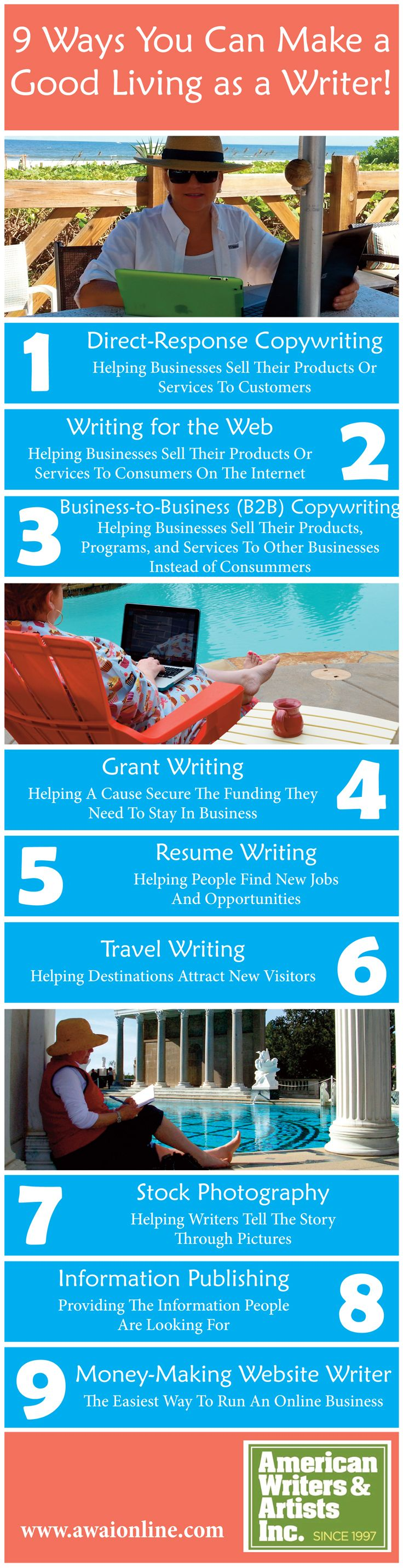 best images about barefoot writer career discover 9 ways you can make a very good living as a writer