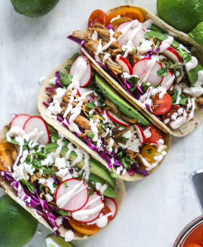 beer braised chipotle chicken tacos I howsweeteats.com