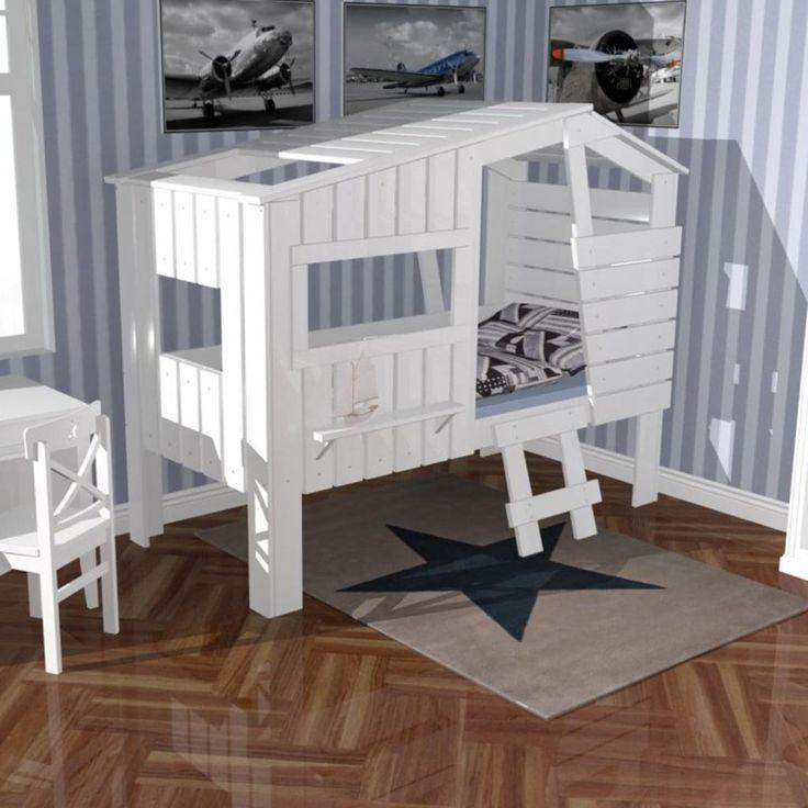 Willkommen im eigenen kleinen Strandhäuschen – in diesem tollen Hüttenbett wird Ihr Kind ganz sicher zauberhafte Nächte verbringen. Welches Kind träumt denn nicht vom eigenen kleinen Häuschen. Mit diesem einzigartigen Hüttenbett STRANDHAUS wird dieser Traum nun wahr...