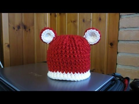 TUTORIAL : CAPPELLO ALL'UNCINETTO PER BIMBA/O con le orecchie! - YouTube