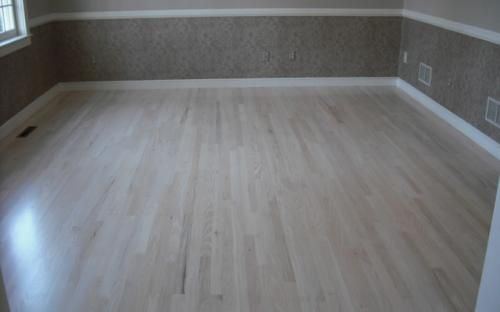 Red Oak Bleached White Stain The Floors Were Sanded
