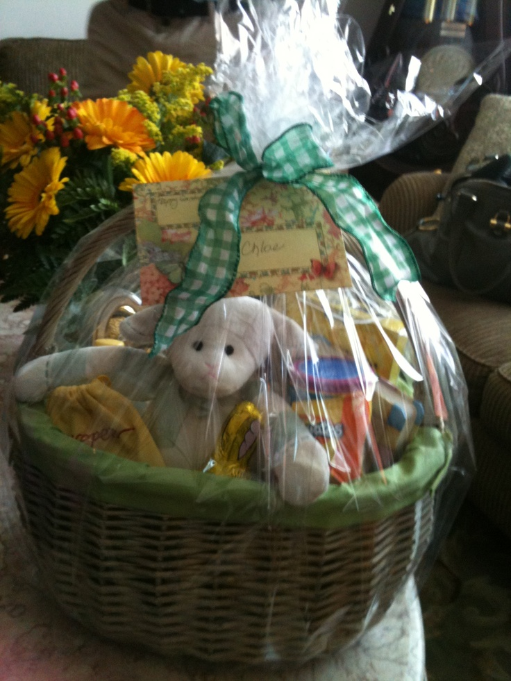122 best easter gift ideas images on pinterest craft easter easter gift basket for toddler negle Image collections