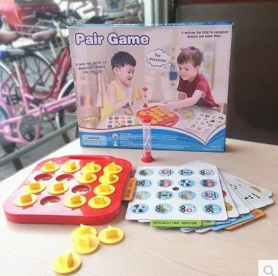 Pair Game Puzzle Toy children fun  brain memory mindfulness training tool for adult