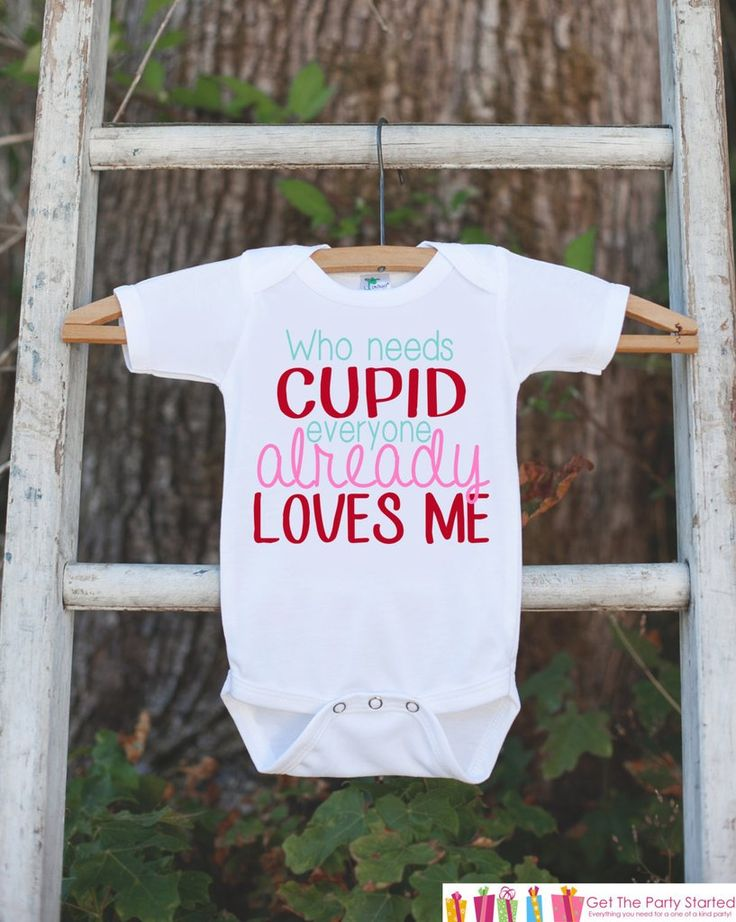 girls valentines day outfit who needs cupid valentines onepiece novelty valentine shirt for baby - Valentines Day Shirts Ladies