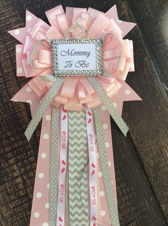 Mamá de princesa bebé ducha que pin - poco princesa bebé ramillete rosa y gris ducha-mamá a ser ramillete princesa babyshower