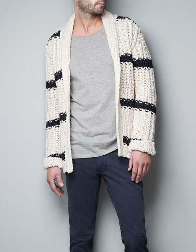 STRIPED+KNIT+CARDIGAN+-+Knitwear+-+Man+-+ZARA