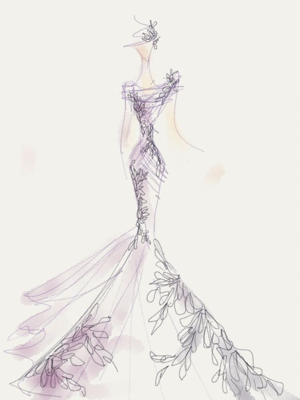 375 best wedding gown sketches images on pinterest
