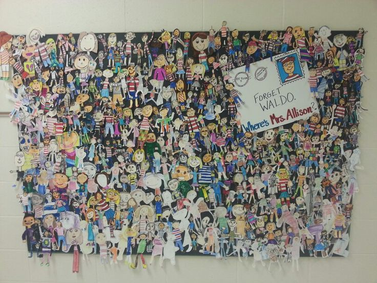 My art classes each made their mini self portrait on the first day of art!
