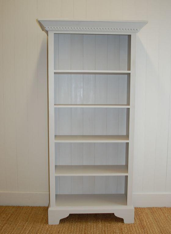Classic English Dental Molding Bookcase