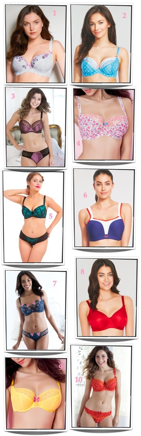 10 Colorful Summer Bras for H, J, K and L Cups! http://www.thefullfiguredchest.com/2012/07/10-colorful-summer-bras-for-h-j-k-and-l-cups/10 Colors, Colors Summer, Pretty Bras, Summer Bras, Uplifting Feelings