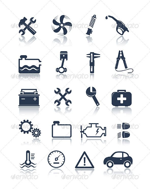 Auto Service Icons — Vector EPS #repair #service • Available here → https://graphicriver.net/item/auto-service-icons/5038472?ref=pxcr