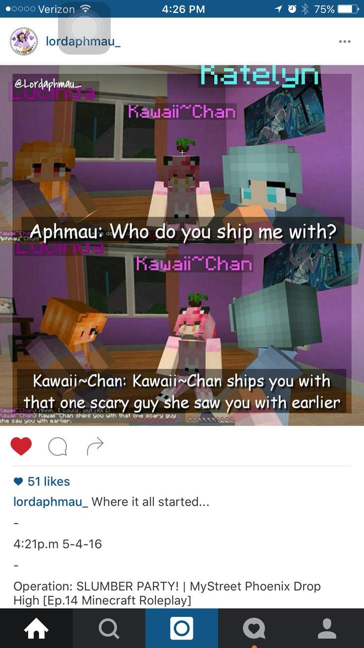 Aphmau: KAWAII-CHAN!!!! Him name is Aaron. I hate him. ALOT!!