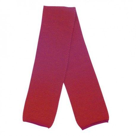 Wool scarf melange, berry cerise, Disana