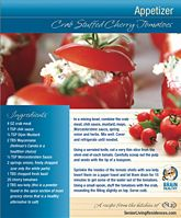 Crab Stuffed Cherry Tomatoes Recipe   Healthy Snack Ideas from Brain Healthy Cooking, Based on the Mediterranean Diet   Senior Living Residences Boston » Brain Healthy Cooking - The New Mindful Eating by  Senior Living Residences, LLC.