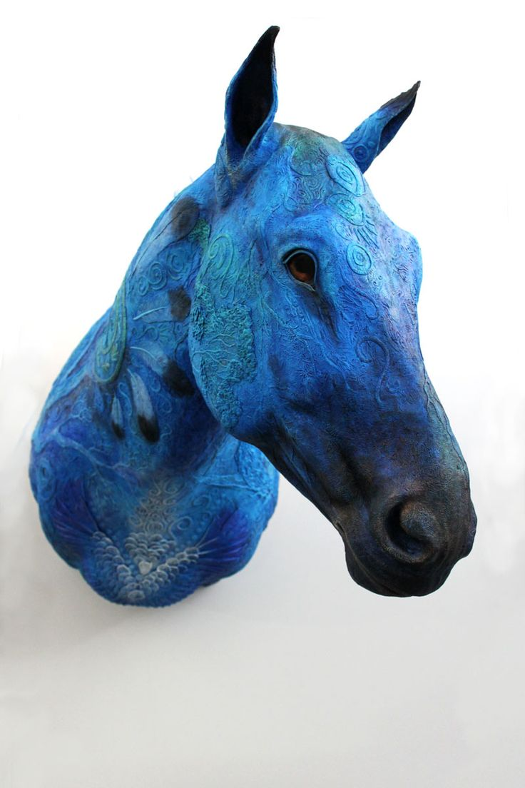 Blue Horse Year I by hontor.deviantart.com on @deviantART