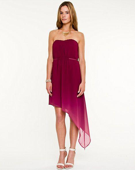 Chiffon Ombré High-Low Dress