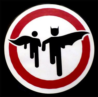 vinil autoadherible silueta de batman y robin