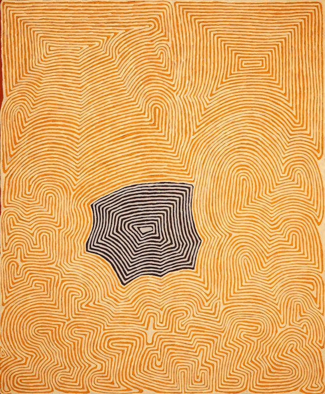 Ronnie Tjampitjinpa, Untitled, 2008, 183 x 153 cm., Papunya Tula Artists; Utopia Art. Sydney.