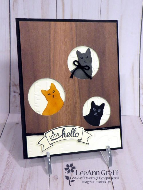 I'm going to feature the Cat Punch for a few cards this week. I hope you enjoy seeing what I've made with it. We made this cute card for my friend Jean's workshop last weekend. She is a cat lover as a