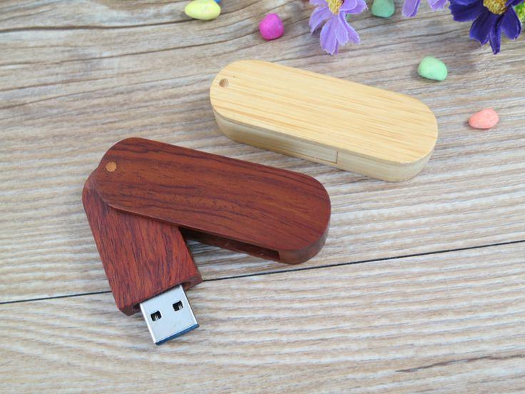 Memoria USB personalizada ecológica, carcasa en madera disponible en acabado arce y nogal.