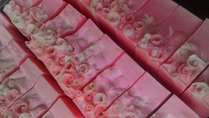 Voila ! Silky Rose Soap, fresh cutted ! #Custom order# Made  by me, #Wulandhana Production#