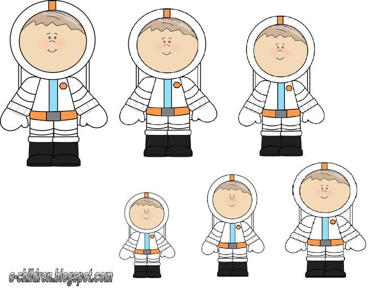 astronautjes van klein naar groot