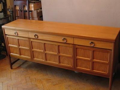Classic 1960s Vintage Scandinavian Design Teak Sideboard