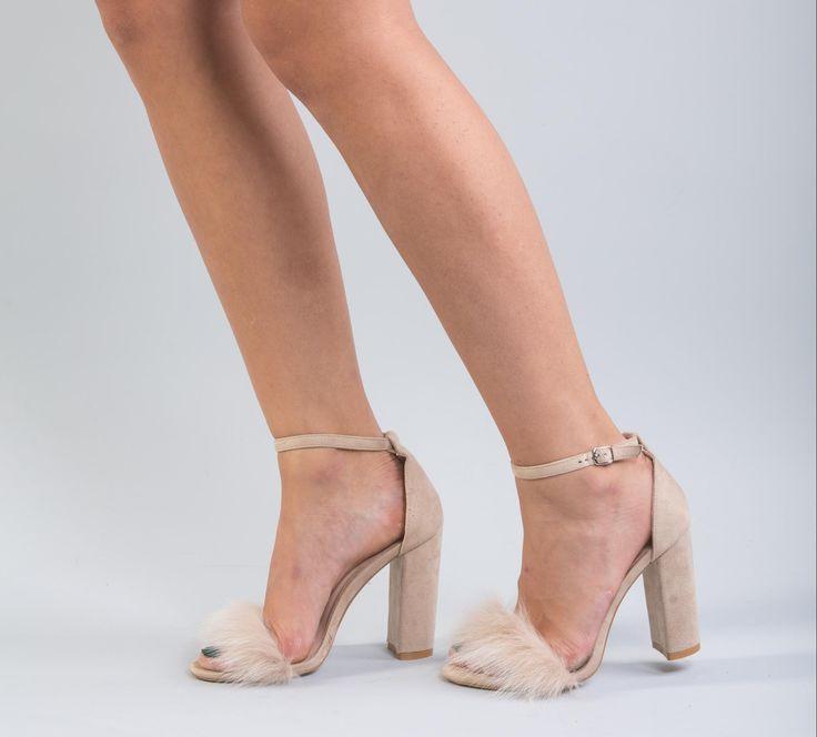 Beige Fox Fur Heels     #beige #fox #fur #heels #shoes #realfur #fox #realfox  #haute #style #accessories #fashion