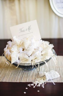 Michaels.com Wedding Department: Champagne Wedding Rice Bags Organza bags make this project quick and easy.