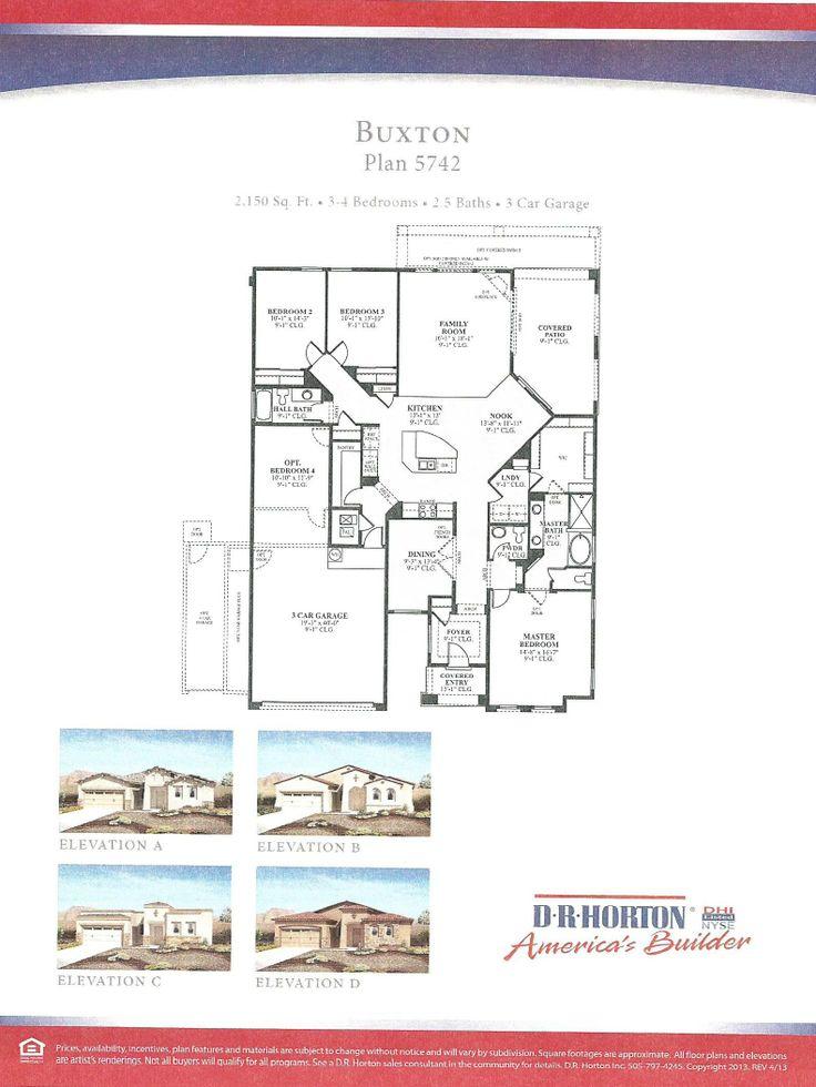 DR Horton Buxton Floor Plan Via NMHomeTeamcom