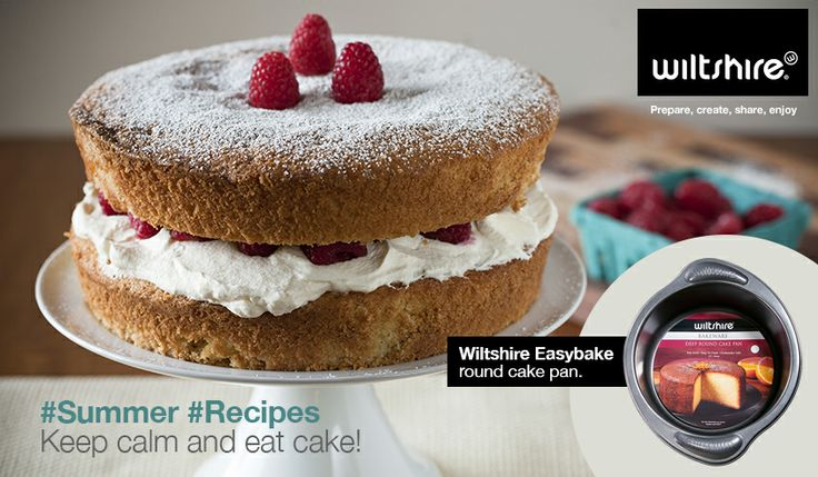 Keep calm and eat cake!  A classic sponge cake goes together with a cup of tea like Victoria goes together with Albert.  Ingredients and method here: www.facebook.com/wiltshiresa