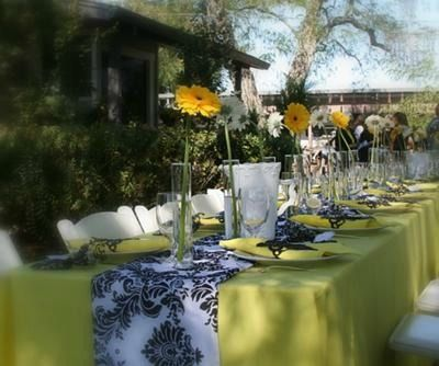 wine country black white bridal shower ideas