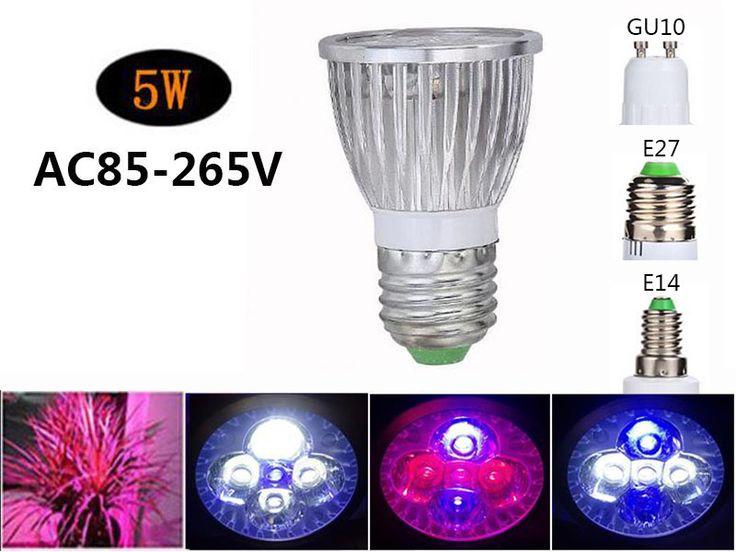 5 W DOPROWADZIŁY rosną światła E27 GU10 lampa LED Oświetlenie Diodowe Do akwarium Dla Ryb Zbiornika wzrostu roślin kwiat owoce sadzonka AC85-265V