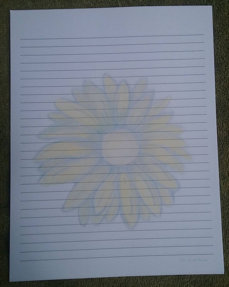 Stationery Letter Sheets / Lined Stationery Sheets / Sunflower Lined Stationery Sheets / Lined Writing Paper / Flower Writing Paper / Art by LoraArtandStationery on Etsy