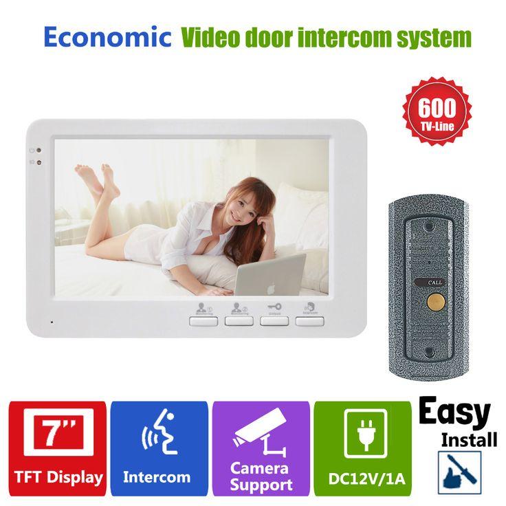 "Homefong 7 ""TFT 600TVL deurtelefoon Camera Intercom Deurbel Systeem Video Deur Monitor 1 tot 1"
