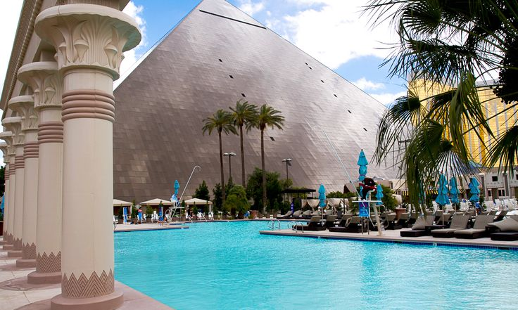 Take a dip in the pool at the Luxor Hotel and Casino in Las Vegas