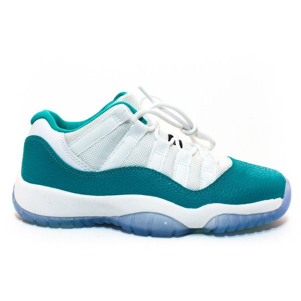 Air Jordan 11 Retro Low GS Aqua ❤ liked on Polyvore featuring shoes and jordans