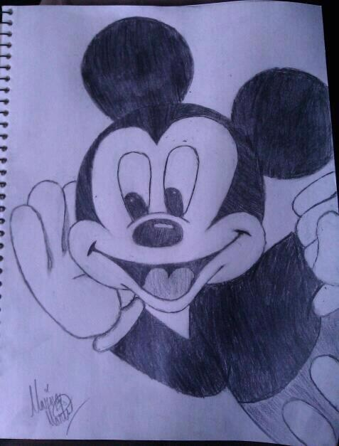 One Of My Drawings Of, Mickey Mouse <3