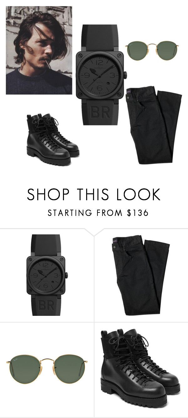 """""""Bell & Ross Aviation BR0392-PHANTOM-CE"""" by authenticwatches ❤ liked on Polyvore featuring Bell & Ross, Lords of Harlech, Ray-Ban, FEIT, men's fashion and menswear"""