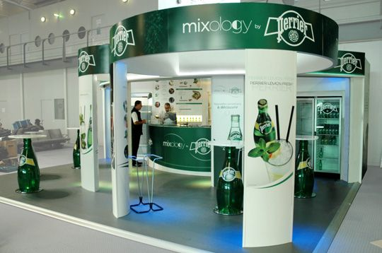 Perrier stand