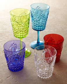 """""""Baroque"""" acrylic drinkware.  Perfect for around my """"pool"""".  LOL."""