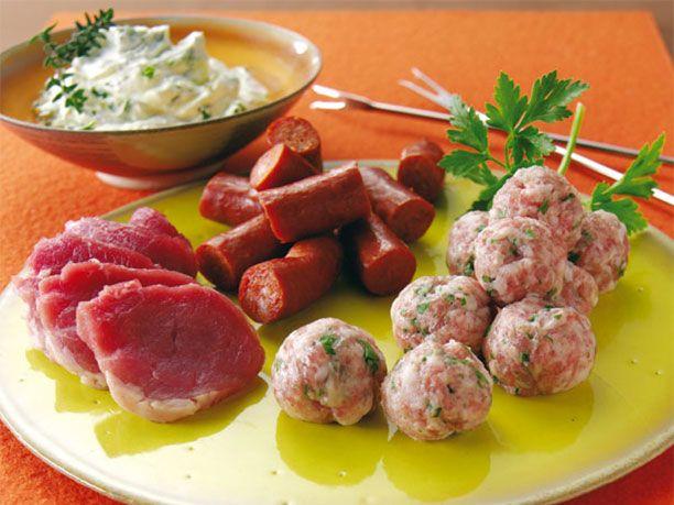 Fleischfondue-Rezept für Mixed Meat – Fleisch pur