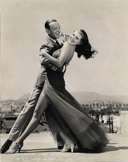 Fred Astaire and Rita Hayworth. 1941. Reportedly his favorite dancing partner