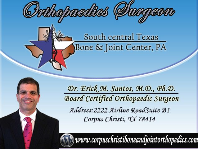 Welcome to South Central Texas Bone and Joint Center We provide orthopedic surgery services.Dr. Erick M. Santos has been successfully treating and #shoulderPain for over 20 years.