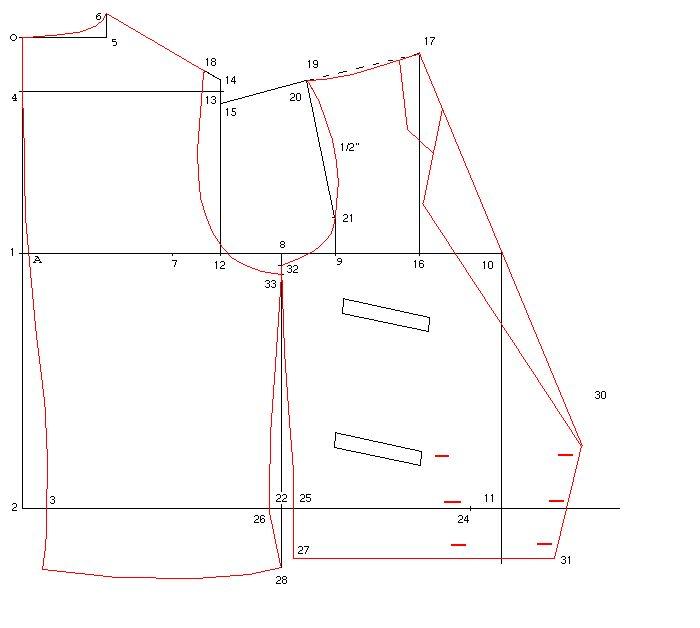 Drafting instructions for John's waistcoat    http://trantanphat.com/tailoring/drafting/