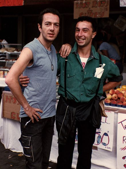 "whiteriotaswell: """"Me and Joe Strummer in London, 1983 by Targi "" """