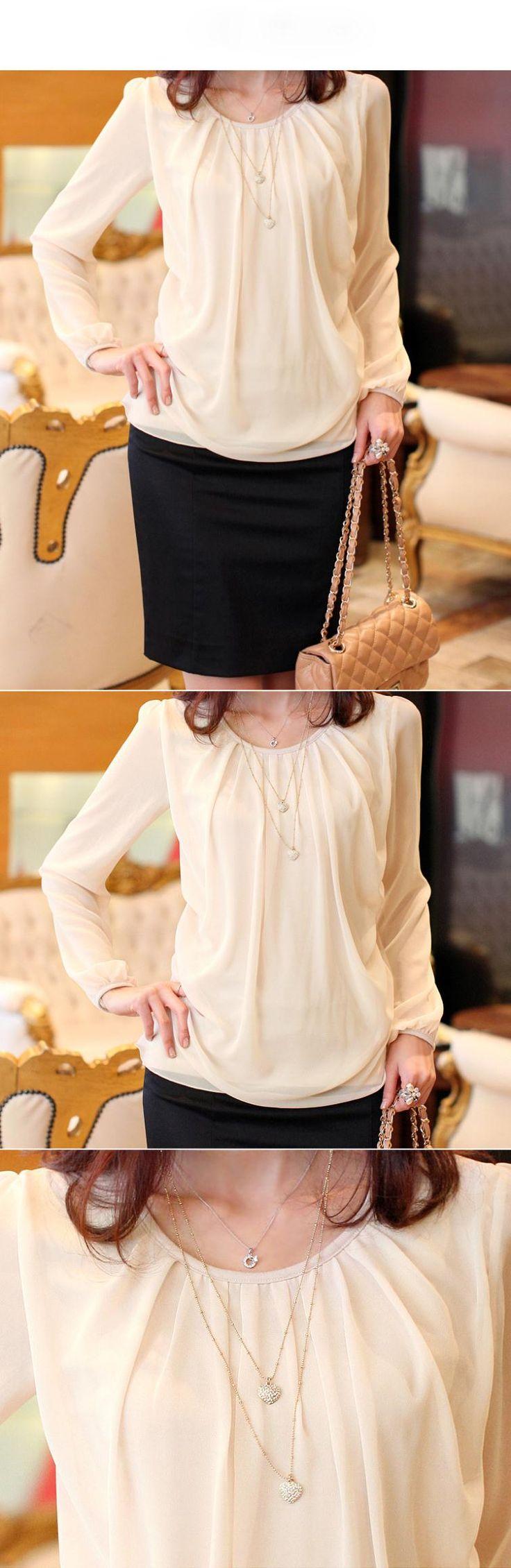 Elegante Outono Mulher Roupas Plus Size XXXXL Chiffon camisa das mulheres blusa manga comprida Dobre Blusas Femininas Moda Feminina Blusas em Blusas de Roupas & acessórios no AliExpress.com   Alibaba Group