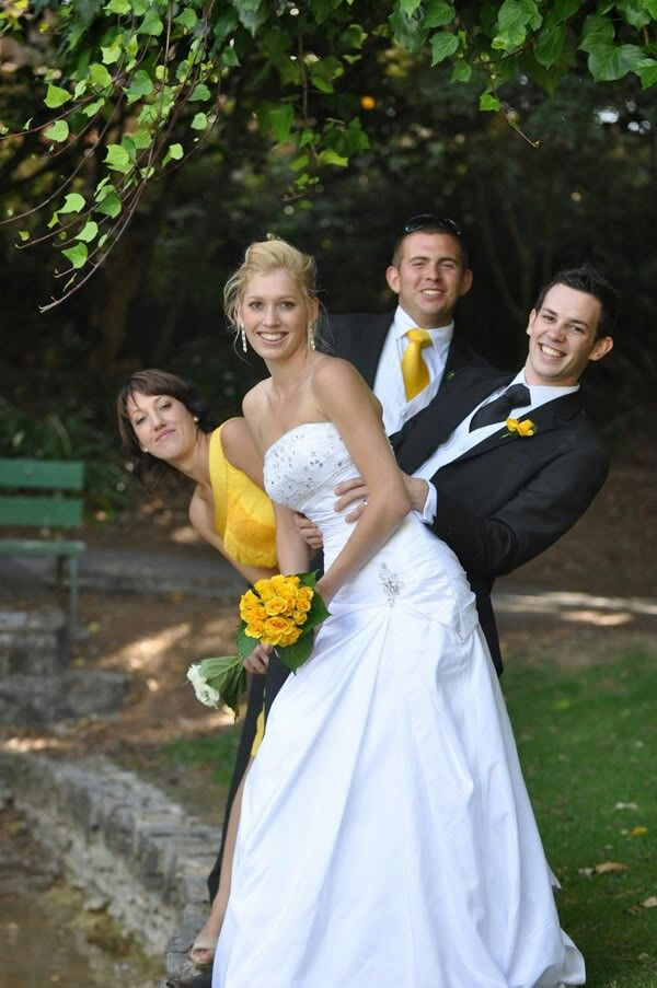 Bride, Groom, Maid of Honor, and Best Man